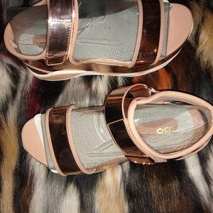 Brand-new Aldo rose gold sandals